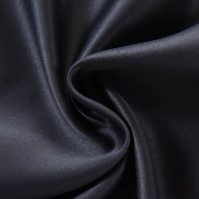 "Blackout Curtains 52x108"" Black Pack of 2 Thermal Insulated With Chrome Grommet Window Treatment Panels"