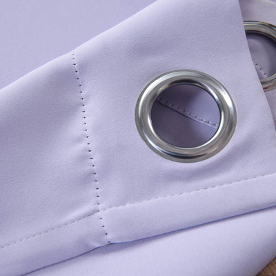 "Blackout Curtains 52x108"" Lavender Pack of 2 Thermal Insulated With Chrome Grommet Window Treatment Panels"
