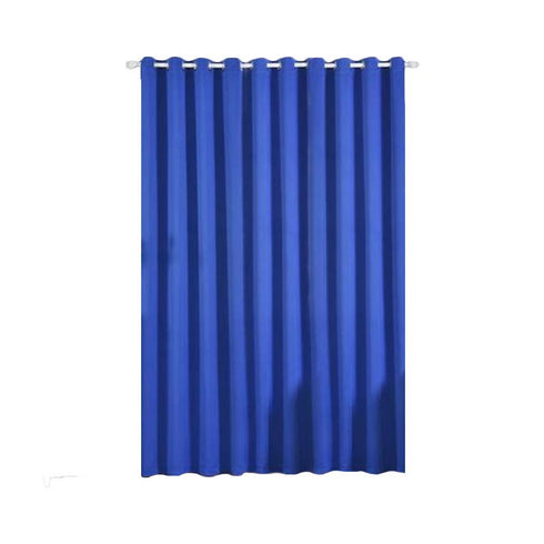 "Pack of 2 | 52""x108"" Royal Blue Thermal Blackout Curtains With Chrome Grommet Window Treatment Panels"