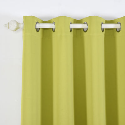 "Blackout Curtains 52x108"" Sage Green Pack of 2 Thermal Insulated With Chrome Grommet Window Treatment Panels"