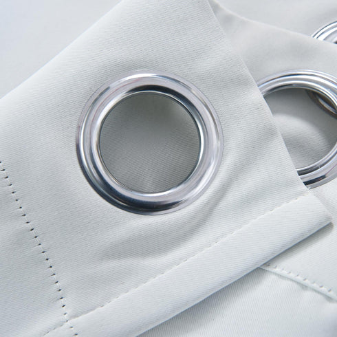 "Blackout Curtains 52x108"" Silver Pack of 2 Thermal Insulated With Chrome Grommet Window Treatment Panels"