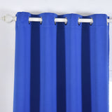 "Blackout Curtains 52x84"" Royal Blue Pack of 2 Thermal Insulated With Chrome Grommet Window Treatment Panels"