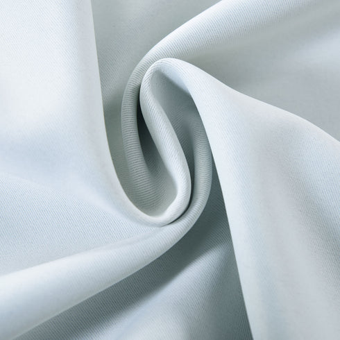 "Blackout Curtains 52x84"" Silver Pack of 2 Thermal Insulated With Chrome Grommet Window Treatment Panels"