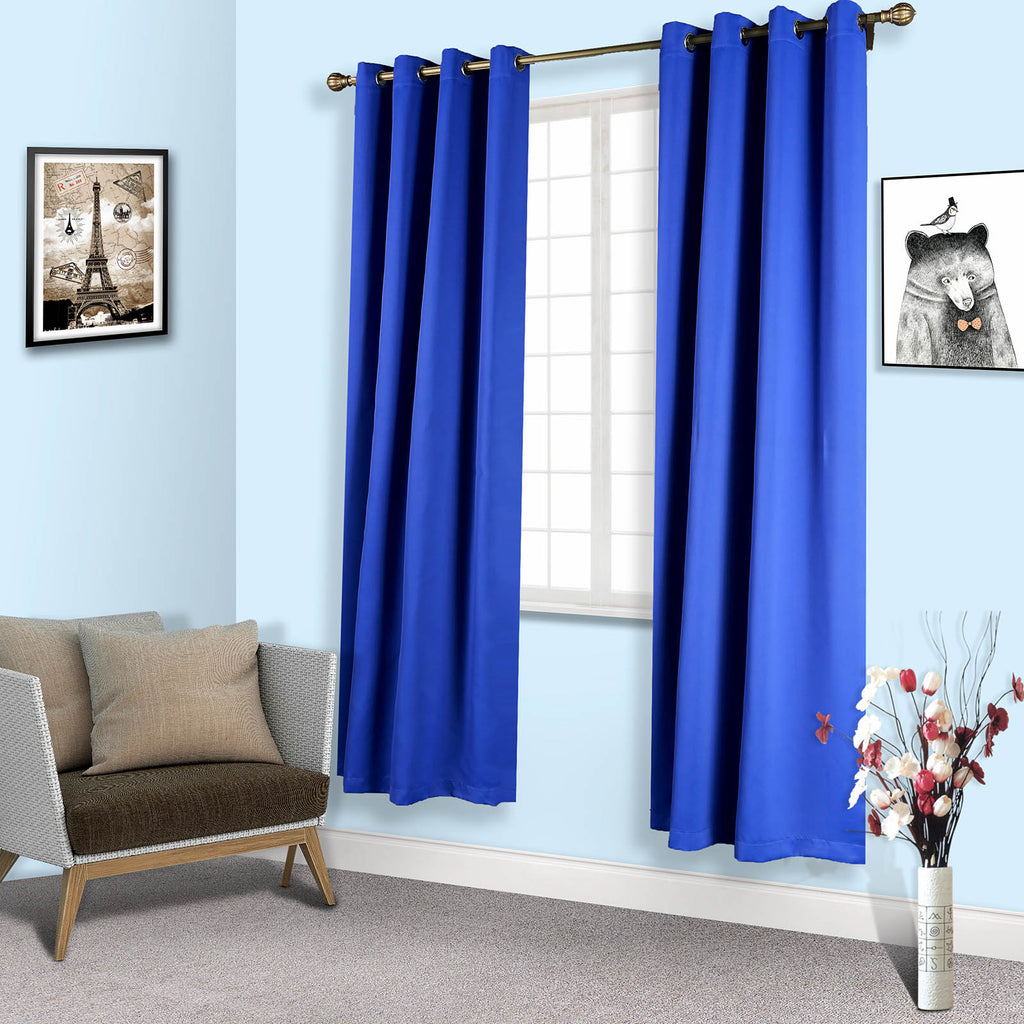 2 Pack 52 Quot X96 Quot Royal Blue Thermal Blackout Curtains With