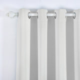 "Blackout Curtains 52x96"" Silver Pack of 2 Thermal Insulated With Chrome Grommet Window Treatment Panels"