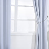 "Blackout Curtains 52x96"" White Pack of 2 Thermal Insulated With Chrome Grommet Window Treatment Panels"
