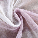 "2 Pack 52""x 64"" Cabana Print Faux Linen Curtain Panels With Chrome Grommet - White / Lavender"