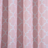 "Blackout Curtains Lattice Print 52""x108"" White/Blush Pack of 2 Thermal Insulated With Chrome Grommet Window Treatment Panels"