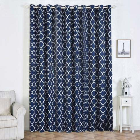 2 Pack 52 Quot X108 Quot Lattice Print Thermal Blackout Curtains