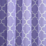 "Blackout Curtains Lattice Print 52""x84"" White/Lavender Pack of 2 Thermal Insulated With Chrome Grommet Window Treatment Panels"