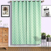 "Pack of 2 | 52""x96"" Lattice Print Thermal Blackout Curtains With Chrome Grommet Window Treatment Panels -White 