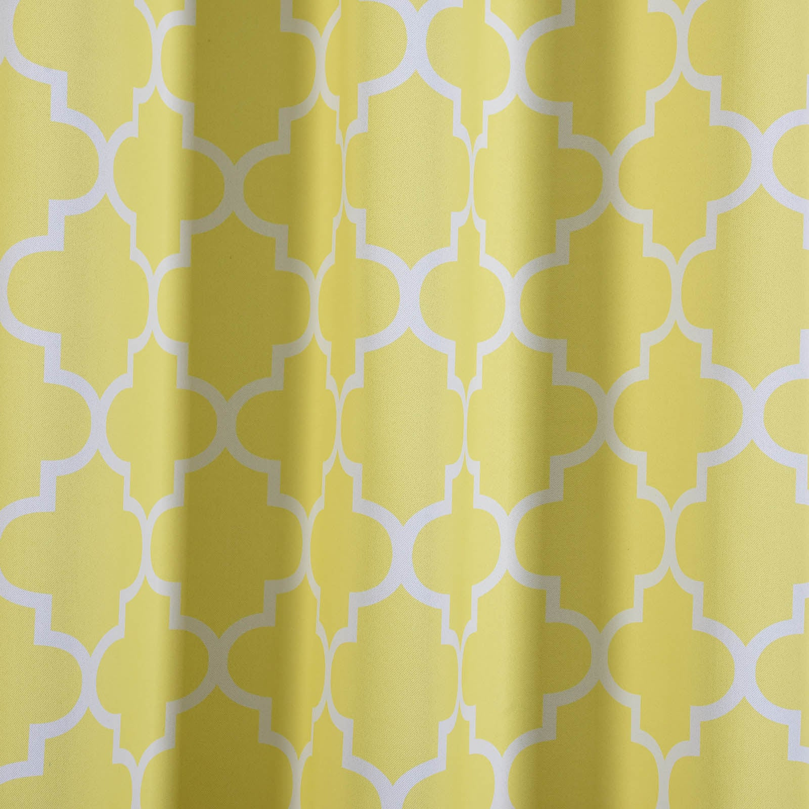 Blackout Curtains Lattice Print 52x96 White Yellow Pack Of 2 Thermal Insulated With Chrome Grommet Window Treatment Panels