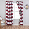 "Pack of 2 | 52""x108"" Chevron Design Thermal Blackout Curtains With Chrome Grommet Window Treatment Panels - White 