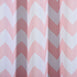 "Blackout Curtains 52x64"" White/Blush Chevron Design Pack of 2 Thermal Insulated With Chrome Grommet Window Treatment Panels"