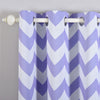 "Pack of 2 | 52""x84"" Chevron Design Thermal Blackout Curtains With Chrome Grommet Window Treatment Panels - White 