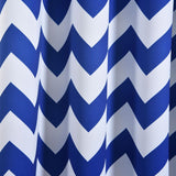 "Blackout Curtains 52x84"" White/Royal Blue Chevron Design Pack of 2 Thermal Insulated With Chrome Grommet Window Treatment Panels"