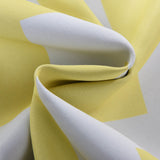 "Blackout Curtains 52x96"" White/Yellow Chevron Design Pack of 2 Thermal Insulated With Chrome Grommet Window Treatment Panels"