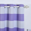 "Pack of 2 | 52""x108"" Cabana Stripe Thermal Blackout Curtains With Chrome Grommet Window Treatment Panels - White 
