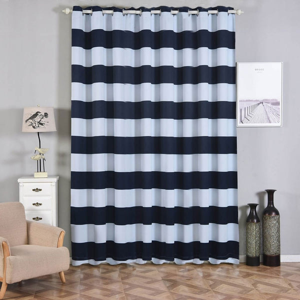2 Pack 52 Quot X108 Quot Cabana Stripe Thermal Blackout Curtains