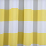 "Blackout Curtains 52""x108"" White/Yellow Cabana Stripe Pack of 2 Thermal Insulated With Chrome Grommet Window Treatment Panels"