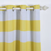 "Pack of 2 | 52""x64"" Cabana Stripe Thermal Blackout Curtains With Chrome Grommet Window Treatment Panels - White 