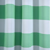 "Pack of 2 | 52""x84"" Cabana Stripe Thermal Blackout Curtains With Chrome Grommet Window Treatment Panels - White 
