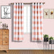 "2 Pack | 52""x84"" Cabana Stripe Thermal Blackout Curtains With Chrome Grommet Window Treatment Panels - White 