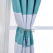 "Pack of 2 | 52""x96"" Cabana Stripe Thermal Blackout Curtains With Chrome Grommet Window Treatment Panels - White 