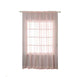 "2 Pack | 52""x108"" Silk Organza Sheer Curtains With Rod Pocket Window Treatment Panels - Rose Gold 