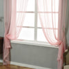 "52""x 108""  Pack of 2 Sheer Organza with Rod Pocket Window Treatment Curtain Panels- Blush"