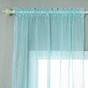 "Pack of 2 - 52""x108"" Baby Blue Organza Grommet Sheer Curtains Panels"