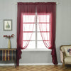 "Pack of 2 - 52""x108"" Burgundy Organza Grommet Sheer Curtains Panels"