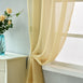 "52""x 108"" Champagne Pack of 2 Sheer Organza with Rod Pocket Window Treatment Curtain Panels"