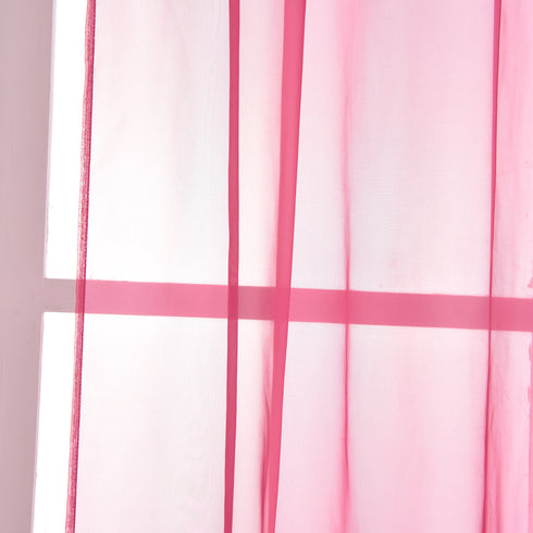 "52""x 108"" Fushia Pack of 2 Sheer Organza with Rod Pocket Window Treatment Curtain Panels"