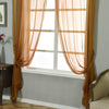 "Pack of 2 - 52""x108"" Gold Sheer Organza Curtains With Rod Pocket Window Treatment Panels"