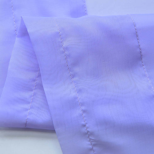 "52""x 108"" Lavender Pack of 2 Sheer Organza with Rod Pocket Window Treatment Curtain Panels"