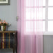 "Pack of 2 - 52""x108"" Pink Sheer Organza Curtains With Rod Pocket Window Treatment Panels"
