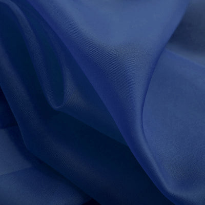"52""x 108"" Royal Blue Pack of 2 Sheer Organza with Rod Pocket Window Treatment Curtain Panels"