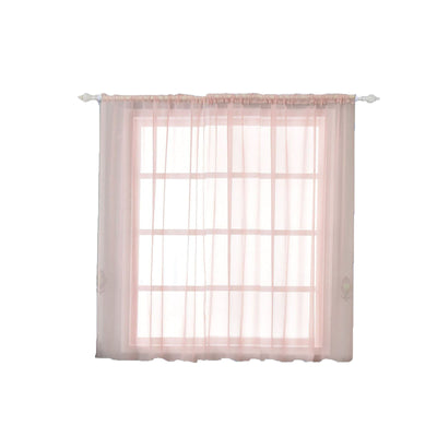 "2 Pack | 52""x64"" Silk Organza Sheer Curtains With Rod Pocket Window Treatment Panels - Rose Gold 