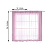 "Pack of 2 - 52""x64"" Pink Sheer Organza Curtains With Rod Pocket Window Treatment Panels"