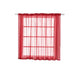 "Pack of 2 - 52""x64"" Red Sheer Organza Curtains With Rod Pocket Window Treatment Panels"
