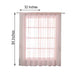 "2 Pack | 52""x84"" Sheer Organza Curtains With Rod Pocket Window Treatment Panels - Rose Gold 