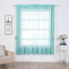 "Pack of 2 - 52""x84"" Baby Blue Organza Grommet Sheer Curtains Panels"