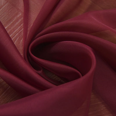 "52""x 84"" Burgundy Pack of 2 Sheer Organza with Rod Pocket Window Treatment Curtain Panels"