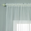"52""x 84"" Ivory Pack of 2 Sheer Organza with Rod Pocket Window Treatment Curtain Panels"