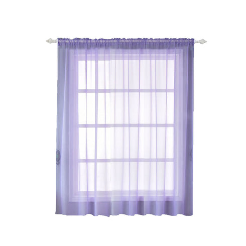"Pack of 2 - 52""x84"" Lavender Sheer Organza Curtains With Rod Pocket Window Treatment Panels"