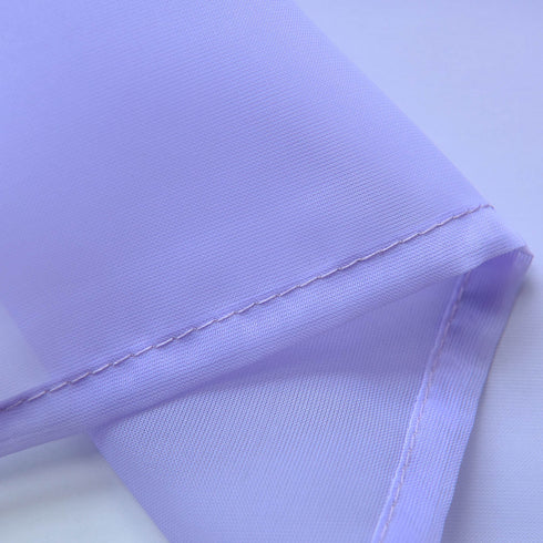 "52""x 84"" Lavender Pack of 2 Sheer Organza with Rod Pocket Window Treatment Curtain Panels"