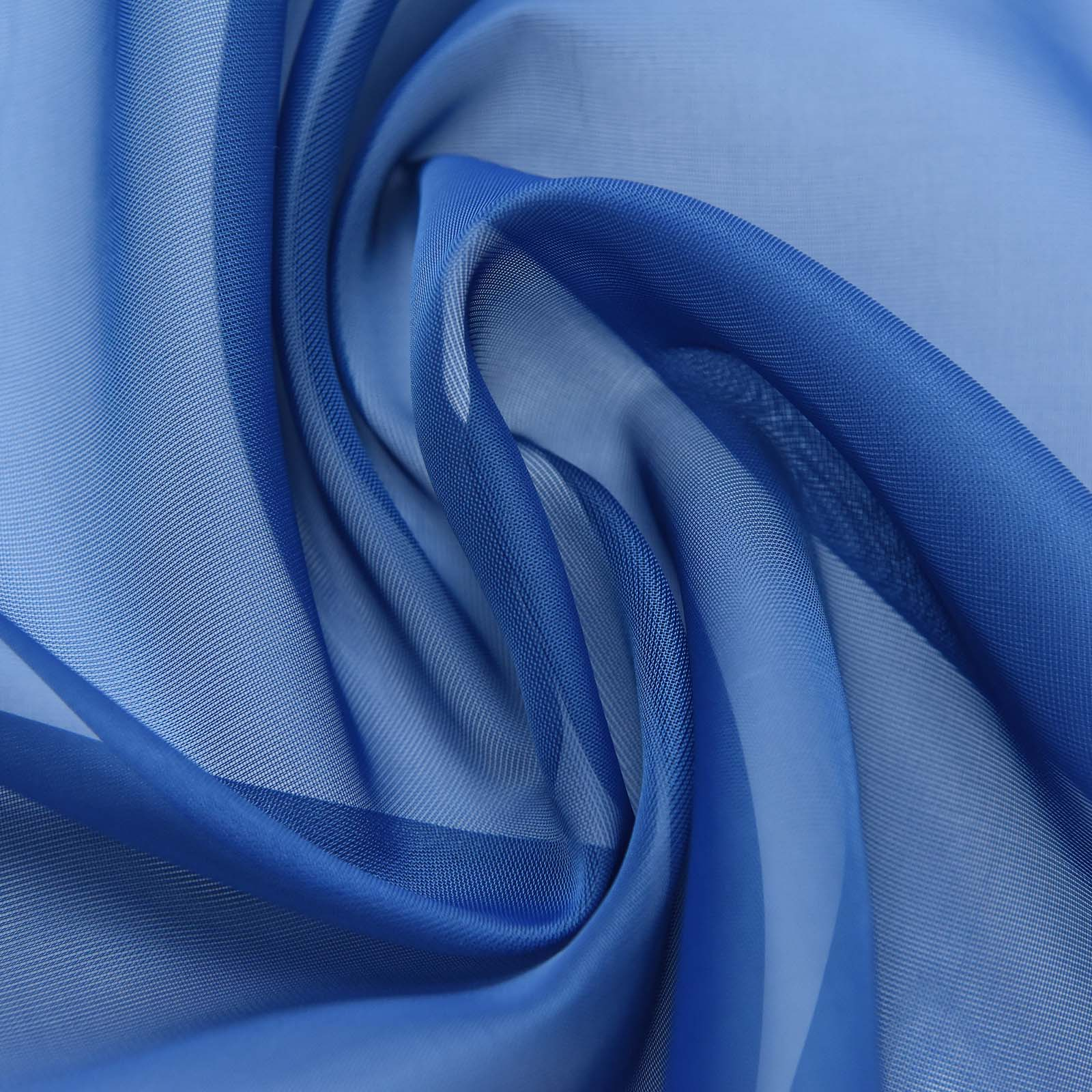 """52""""x84"""" Navy Blue Sheer Organza Curtains With Rod"""