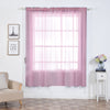 "2 Pack | 52""x84"" Pink Sheer Organza Curtains With Rod Pocket Window Treatment Panels"