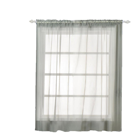 "Pack of 2 - 52""x84"" Silver Sheer Organza Curtains With Rod Pocket Window Treatment Panels"